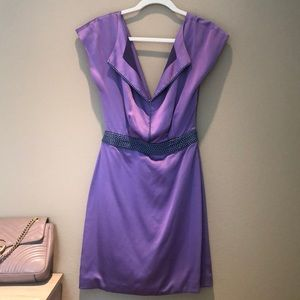 Purple silk Zac Posen dress